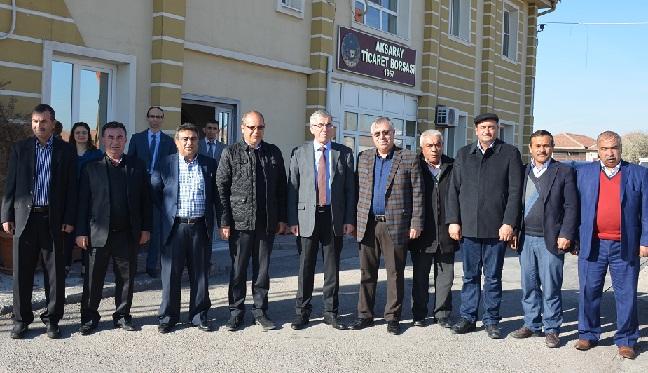 Vali Ataklı'dan, Aksaray Ticaret Borsası'na Ziyaret