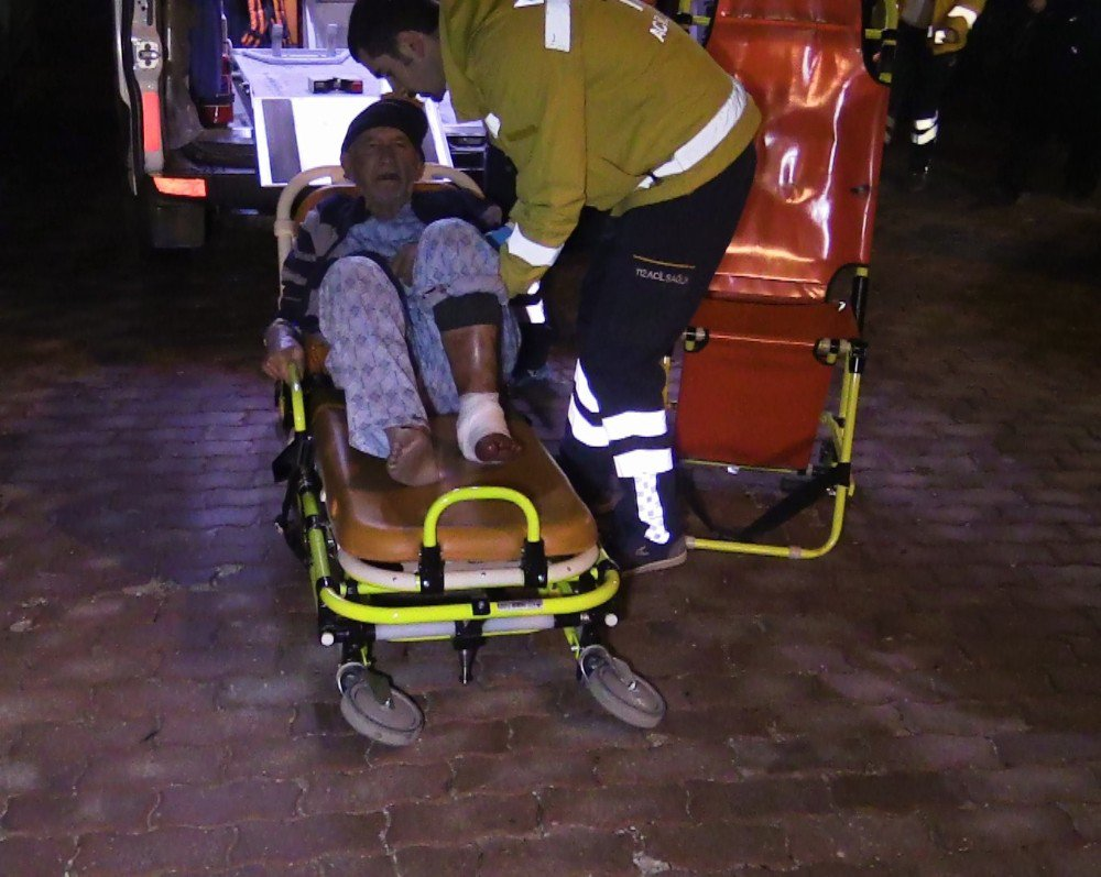 Yaşlı adam dengesini kaybedince 9. kattan alt kata düştü