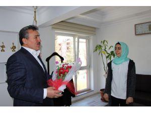 Suğla Tarım Meslek Lisesi öğrencilerinden Başkan Tutal'a teşekkür