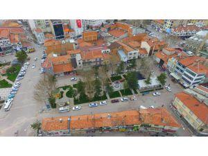 Beyşehir'de yenilenen şadırvan meydanı göz kamaştırıyor