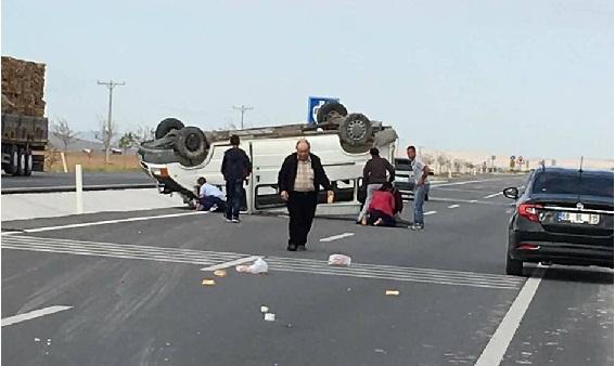 Kızören'de kaza 1 ölü 4 yaralı