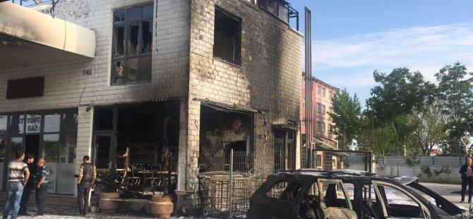 Konya'da akaryakıt istasyonunda korkutan yangın