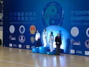 Meram Belediyesporlu Wushucu Küçüktanık Avrupa ikincisi