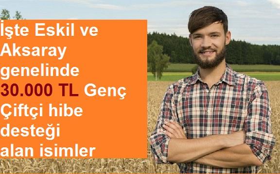 İşte Eskil ve Aksaray Genelinde Genç Çiftçi Hibe Desteği Alacak İsimler