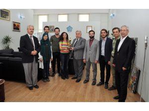 Geleneksel Türk Okçuluğu Federasyonu Başkanı Koç'tan Rektör Şeker'e ziyaret