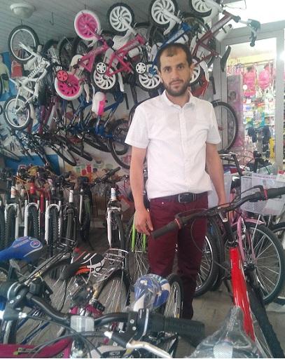 Ramta'da bisiklette kampanya