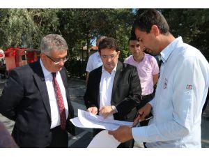 Vali Pekmez ve Başkan Yazgı alt geçit sahasında incelemelerde bulundu