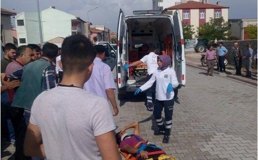 Eskil'de yine motosiklet kazası 1 yaralı! VİDEO