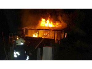 Seydişehir'de bağ evinde yangın