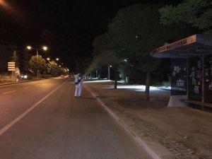 Beyşehir'in park ve yeşil alanları dezenfekte ediliyor