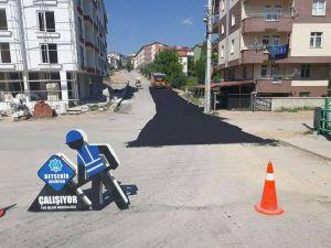 Beyşehir'de yol çalışmaları devam ediyor