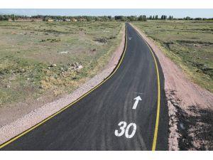 Somuncu Baba Mahallesinin bağlantı yolu asfaltlandı