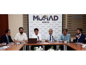 """MÜSİAD Konya Şubesi'nde """"Kamu-Üniversite-Sanayi İşbirliği"""" konusu anlatıldı"""