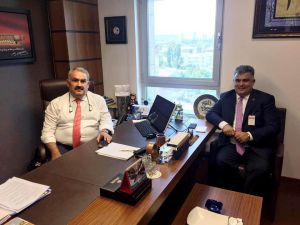 Başkan Özgüven, Milletvekili Etyemez'le görüştü