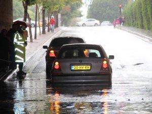 Konya'da kısa süreli yağış etkili oldu