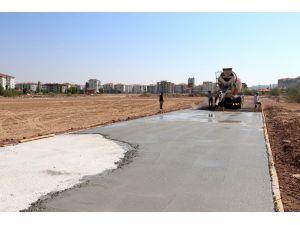 Aksaray'da Uluırmak rekreasyon alanı ve kent parkında çalışmalar sürüyor