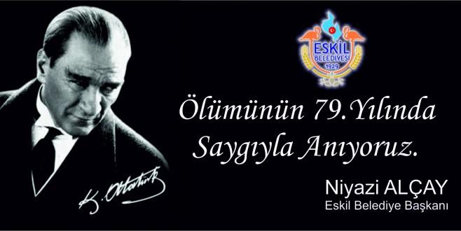 Başkan Alçay'ın 10 Kasım Atatürk'ü Anma Mesajı!
