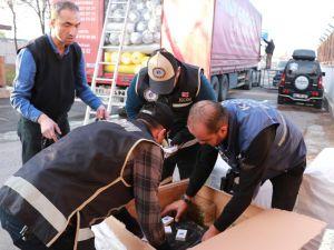 Aksaray'da Düğün Kınası Adı Altında Kaçak Sigara Sevkiyatı