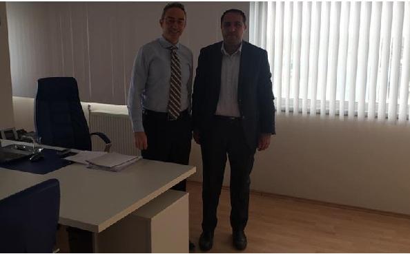 Ali Mutlu'dan Balküpü Şeker Fabrikası Müdürü Polat'a ziyaret