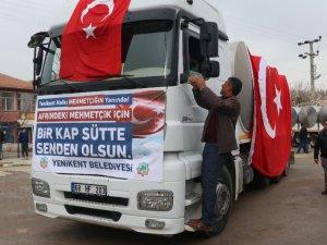 Yenikent'ten Mehmetçiğe 100 Ton Süt Bağışı