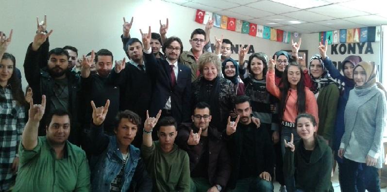 Halilova Konya Türk Ocakları'nın konuğu oldu
