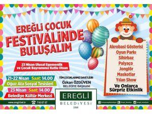 Ereğli Belediyesinden çocuklar için 23 Nisan festivali