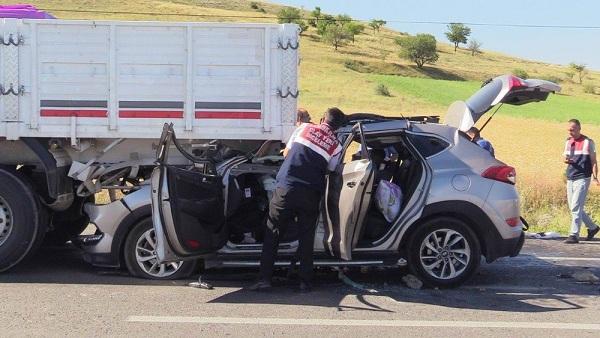 Konya'da kaza 2 ölü, 5 yaralı