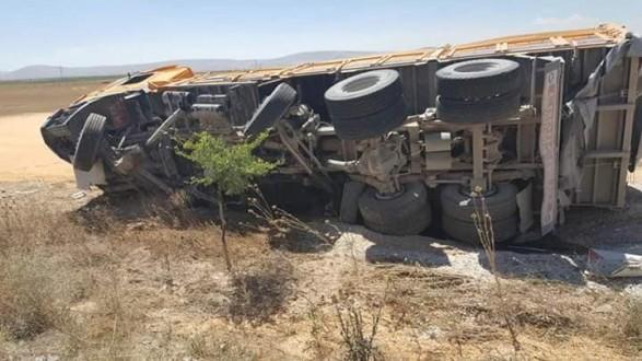 Eskilli şoför Kızören'de kaza yaptı