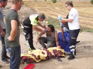 Gurbetçilerin bulunduğu otomobil takla attı: 6 yaralı