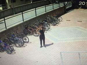 Sitenin Bahçesindeki Bisikletin Çalınma Anı Kamerada