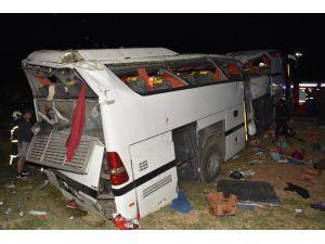 Aksaray'daki otobüs kazasında 1 kişi hayatını kaybetti