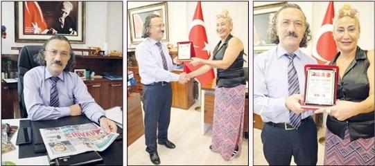 Hakim Alparslan Keskin'e onur plaketi