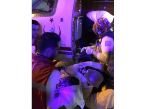 Ambulans uçak Muhammed Emir bebek için havalandı