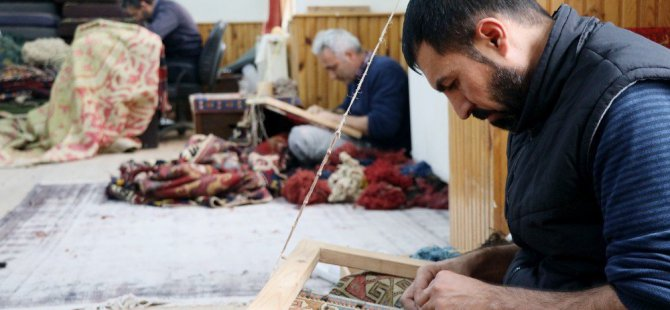 Dünyanın halıları Sultanhanı'nda yeniden doğuyor