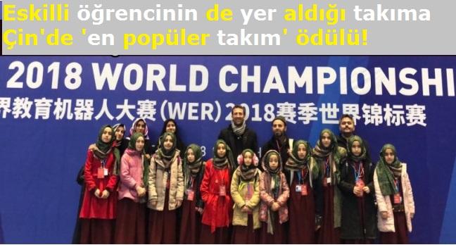 Eskilli öğrencinin de içinde yer aldığı hafızlara Çin'de 'en popüler takım' ödülü