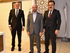 Taekwondo Federasyonu Başkanı Şahin'den Başkan Pekyatırmacı'ya ziyaret