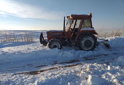"""Eskilli vatandaştan tepki, """"Her kar yağdığında yayla yolumuzu kendim açıyorum"""""""