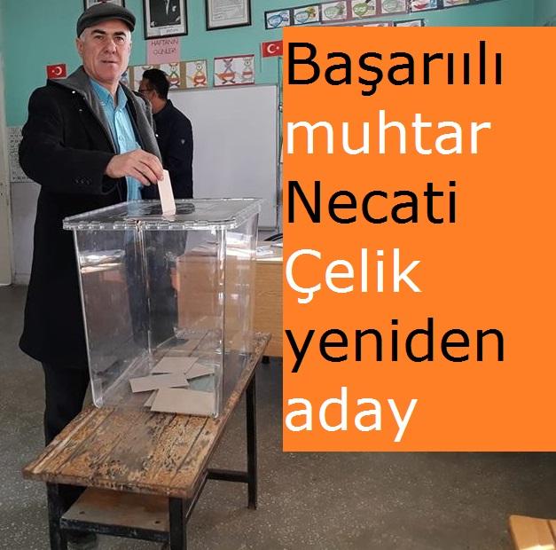 Başarıılı muhtar Necati Çelik yeniden aday