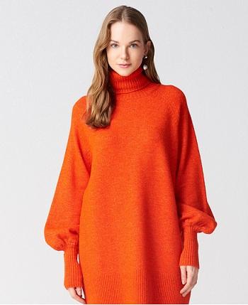 Şık ve Örme Özellikli Kışlık Elbise Modelleri