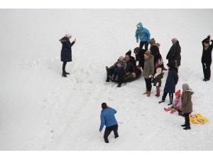 Baharda Konya'da kayak keyfi