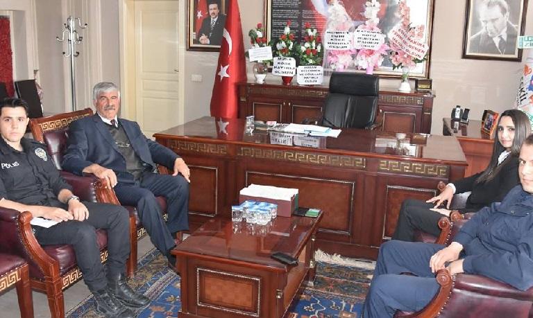Kaymakam Karaalioğlu'dan Başkan Belgemen'e hayırlı olsun ziyareti
