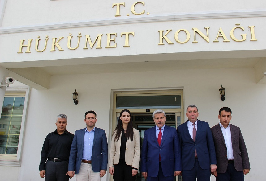 Rektör Şahin'den Kaymakam Karaalioğlu'na Ziyaret