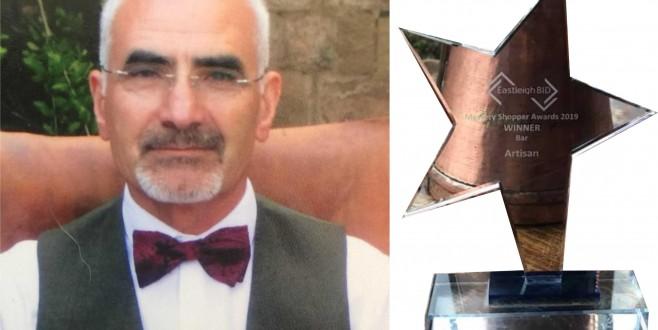 Eskilli Hasan Hüseyin Yalvaç'a İngiltere'de ödül!