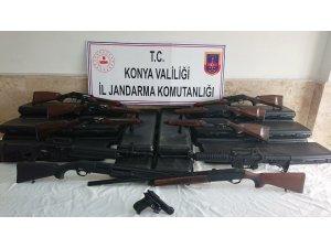 Konya'da kaçak üretilmiş av tüfekleri ele geçirildi