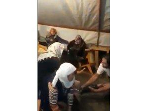 Aksaray'da düğün çadırında sel paniği VİDEO