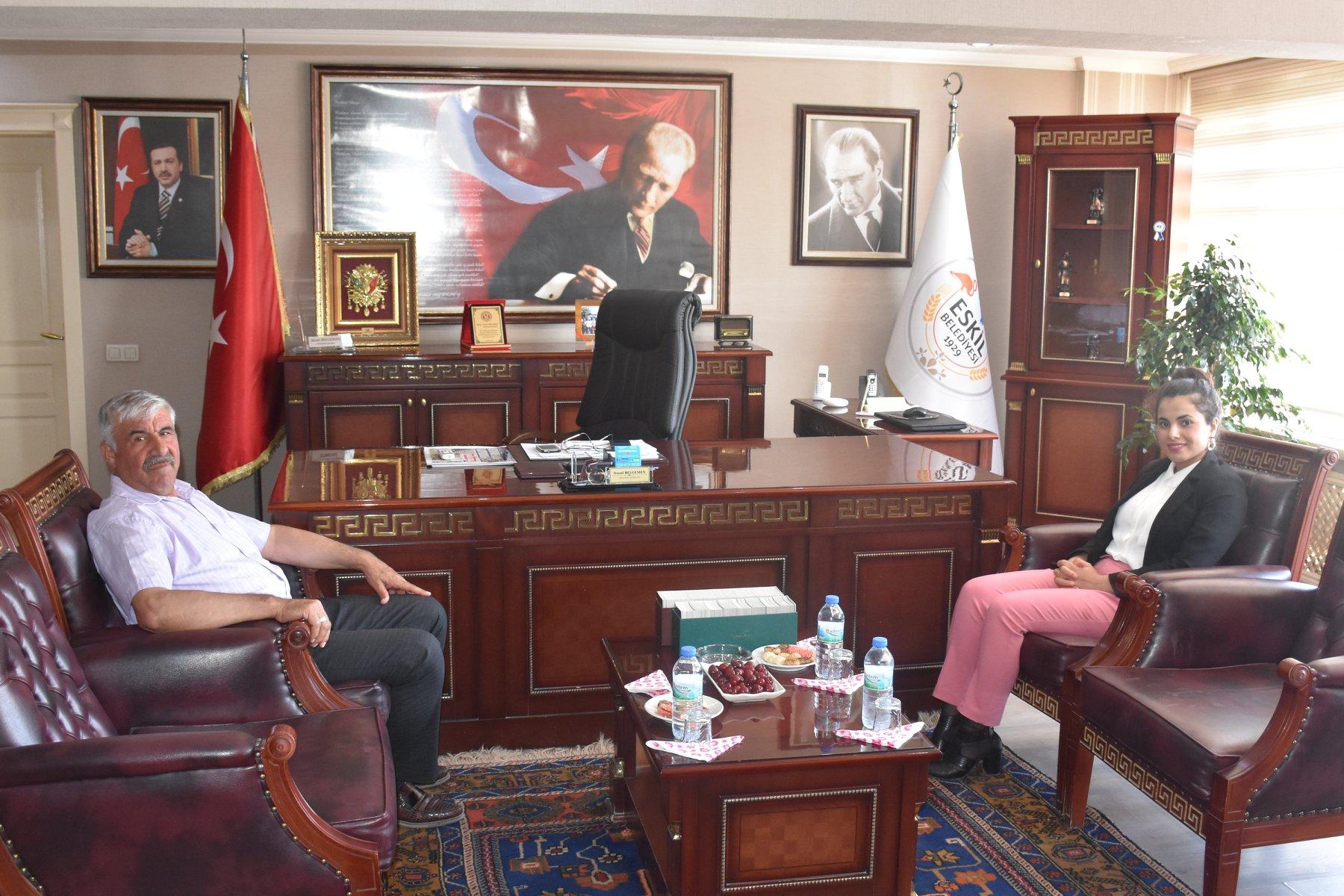 Kaymakam Karataş'tan Başkan Belgemen'e iadeyi ziyaret