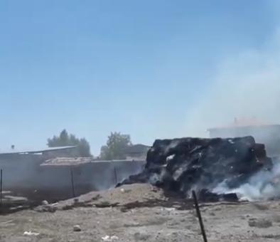 Eskil Saman Balyaları Cayır Cayır Yandı! VİDEO