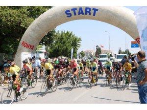 Beyşehir'de bisiklet yarışı