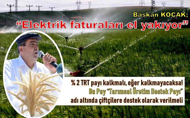 """Çiftçi dertli! """"Elektrik fiyatları son bir yılda yüzde 76,4 oranında arttı"""""""