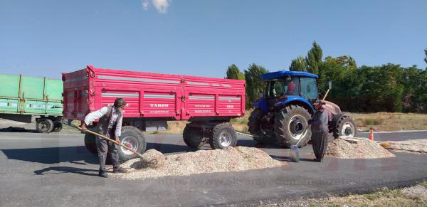 Aksaray'da hırsızlık! Çiftçinin evinin önündeki römorku çaldılar